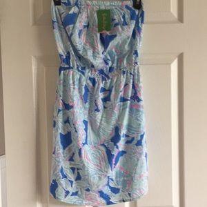 NWT Lilly Pulitzer Windsor Dress Bay Blue Deep XS